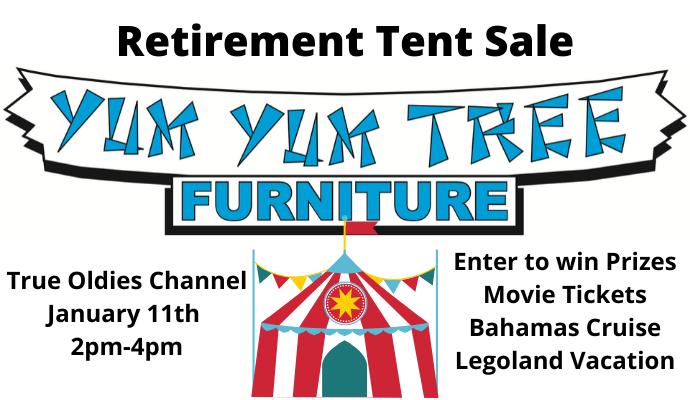 Yum Tree Retirement Tent, Yum Tree Furniture